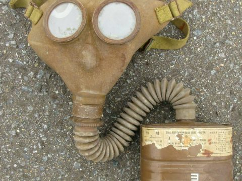 Japanese Army WW2 Military Security Team Gas Mask 1940 Antique Imperial Japan Q5 for sale