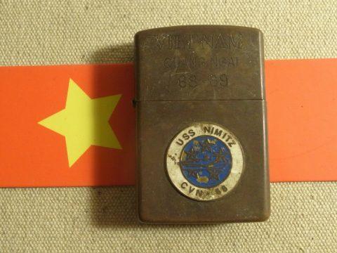 Vietnam WAR Brass Zippo Lighter  (g13)  Vietnam Zippo Coin for sale