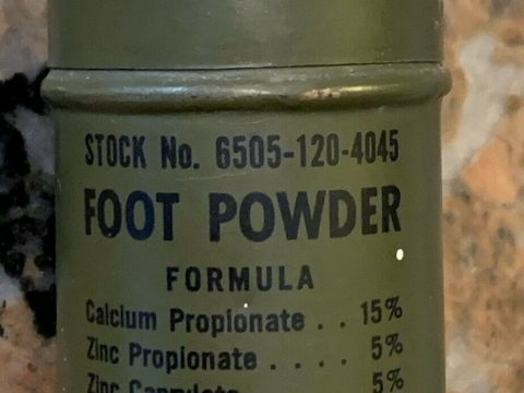 "World War ll Foot Powder Tin 2.75"" for sale"