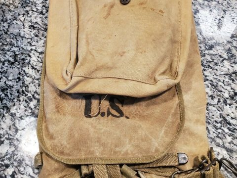 WW2 US Army M1928 Haversack (1942) Original for sale