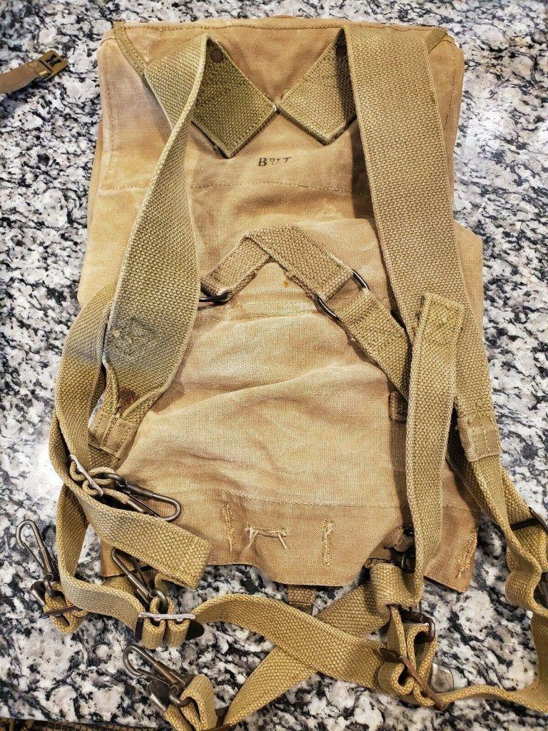 WW2 US Army M1928 Haversack (1942) Original