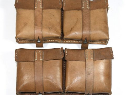 Original WW2 German G43 Pouches Marked ROS 1944 for sale