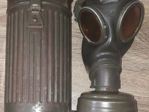 WW2 Original Wehrmacht German Gas Mask Canister bmw 1943 for sale