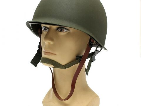 M1 CS Helmet WWII Steel WW2 US USA Tactical Army Equipment Military Green for sale