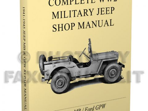 Willys MB Ford GPW Miltary Jeep Repair Manual 1941 1945 Paper WW2 Shop Service for sale