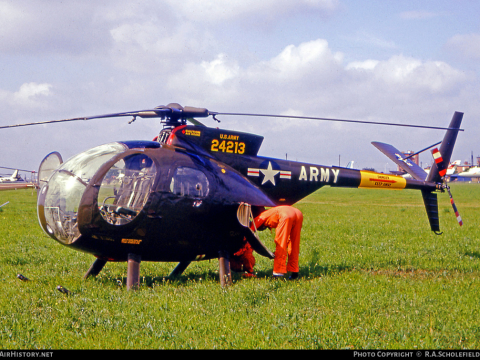 Hughes YOH 6A historic helicopter for sale