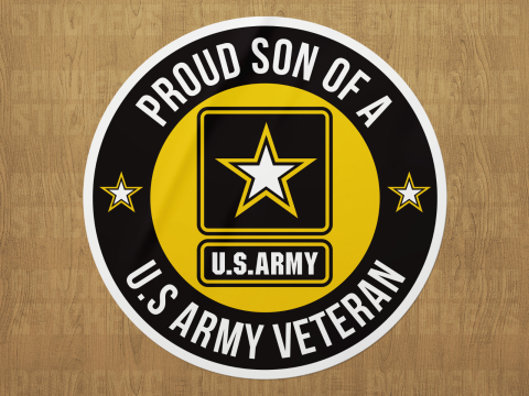 U.S Army Proud Vinyl Decal Sticker Military Car Laptop Father Mother Wife Son for sale